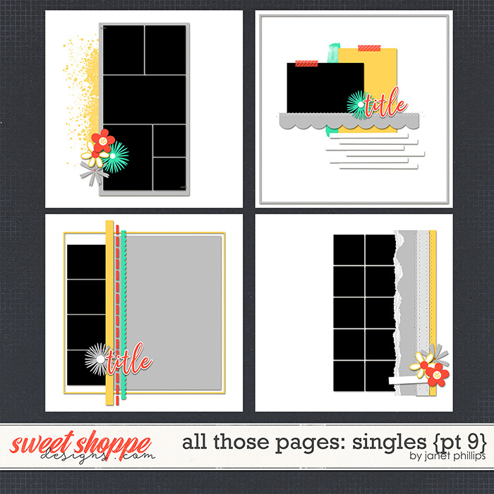 ALL THOSE PAGES: SINGLES {part 9} by Janet Phillips