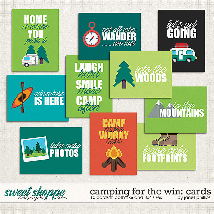 Camping For the Win: Journaling Cards by Janet Phillips