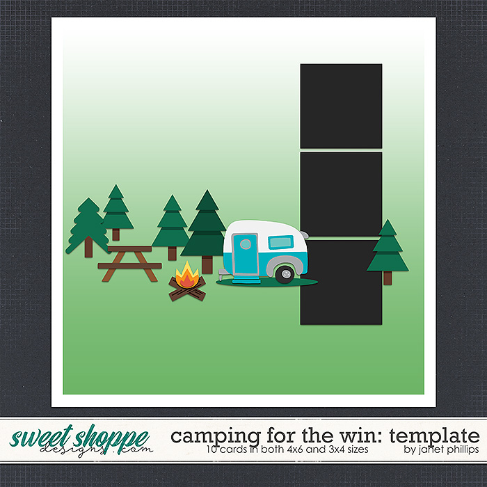 Camping For the Win: Template by Janet Phillips