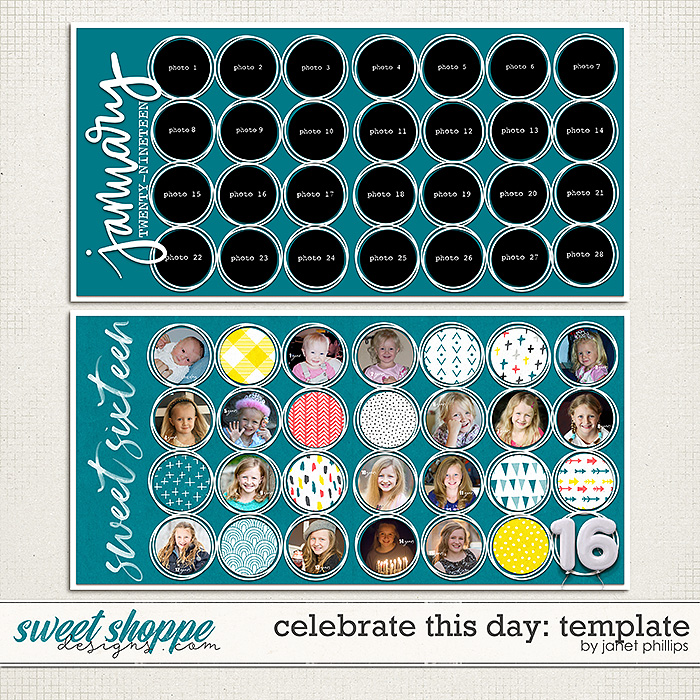 CELEBRATE THIS DAY: TEMPLATE by Janet Phillips