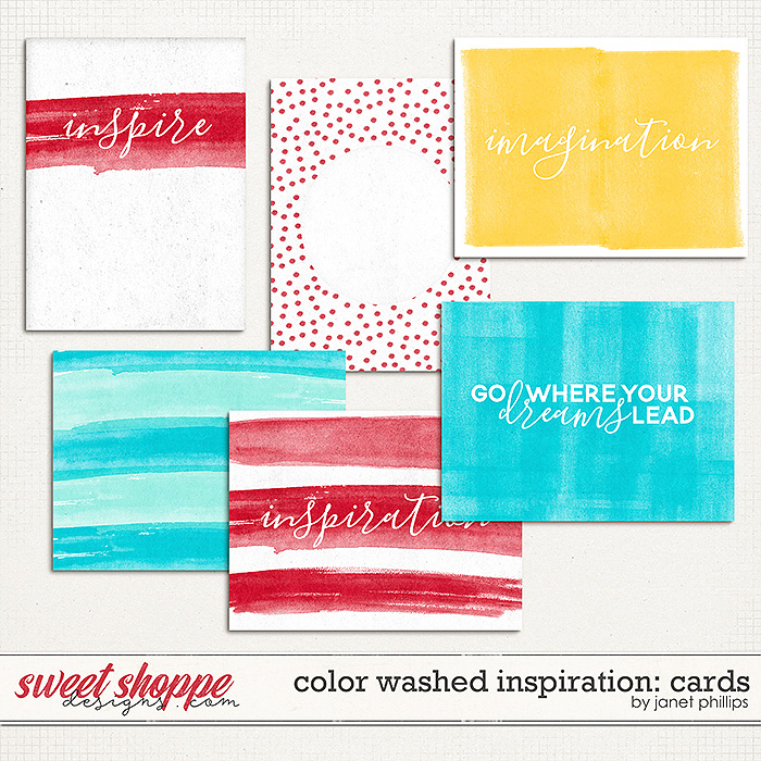 Color Washed Inspiration Journaling Cards by Janet Phillips