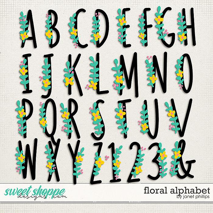 FLORAL ALPHABET by Janet Phillip