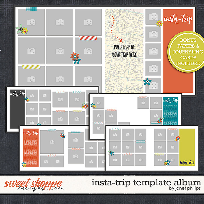 Insta-Trip Template Album by Janet Phillips