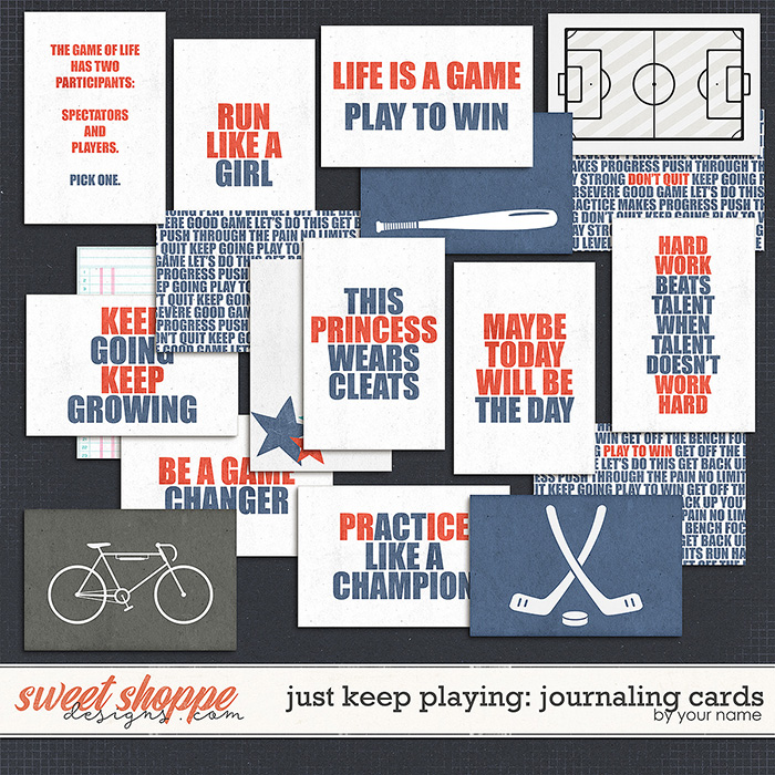 Just Keep Playing Journaling Cards by Janet Phillips