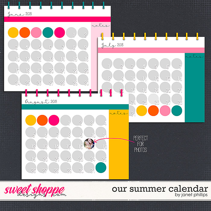 Our Summer Calendar by Janet Phillips