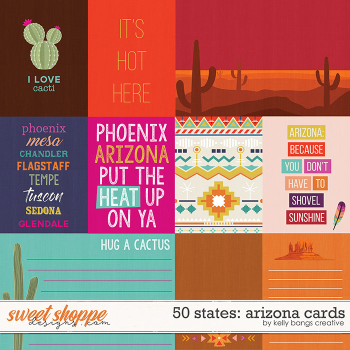 50 States: Arizona Cards by Kelly Bangs Creative