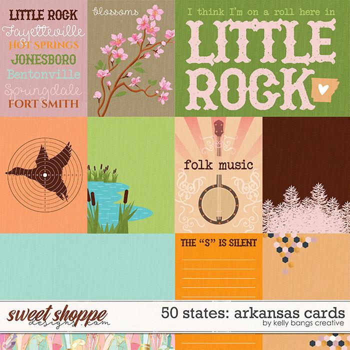 50 states: Arkansas Cards by Kelly Bangs Creative