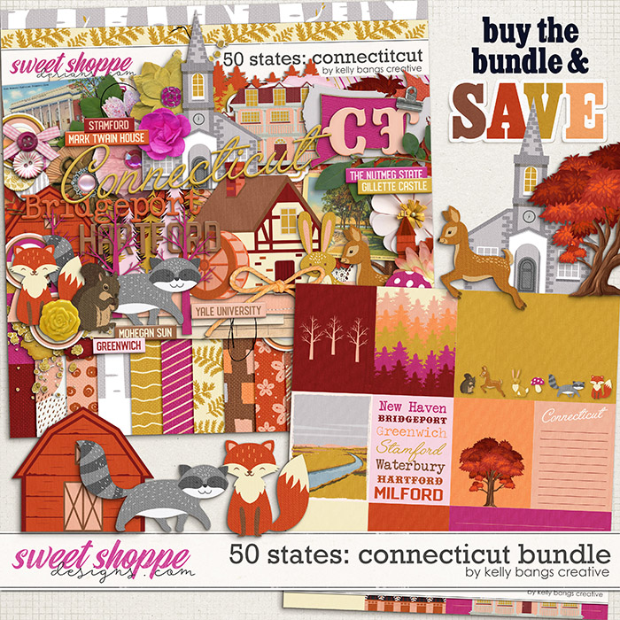 50 States: Connecticut Bundle by Kelly Bangs Creative