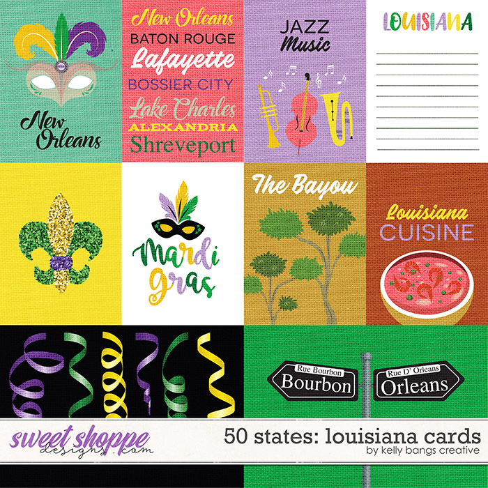 50 States: Louisiana Cards by Kelly Bangs Creative