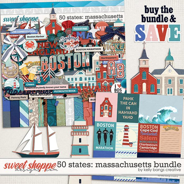 50 States: Massachusetts Bundle by Kelly Bangs Creative