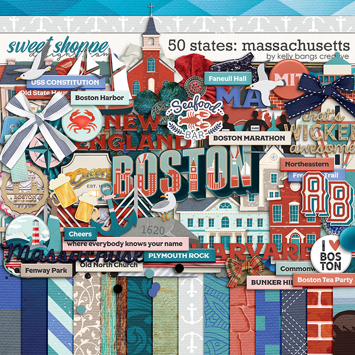 50 States: Massachusetts by Kelly Bangs Creative