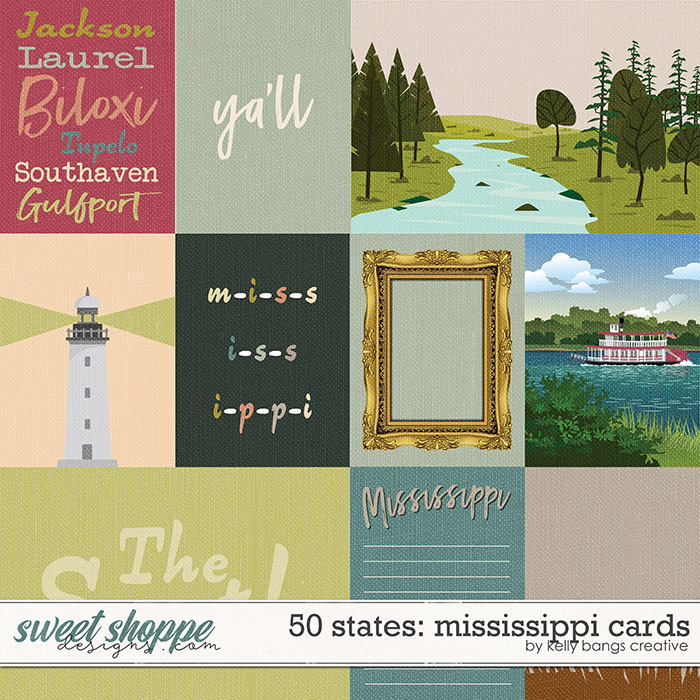 50 States: Mississippi Cards by Kelly Bangs Creative