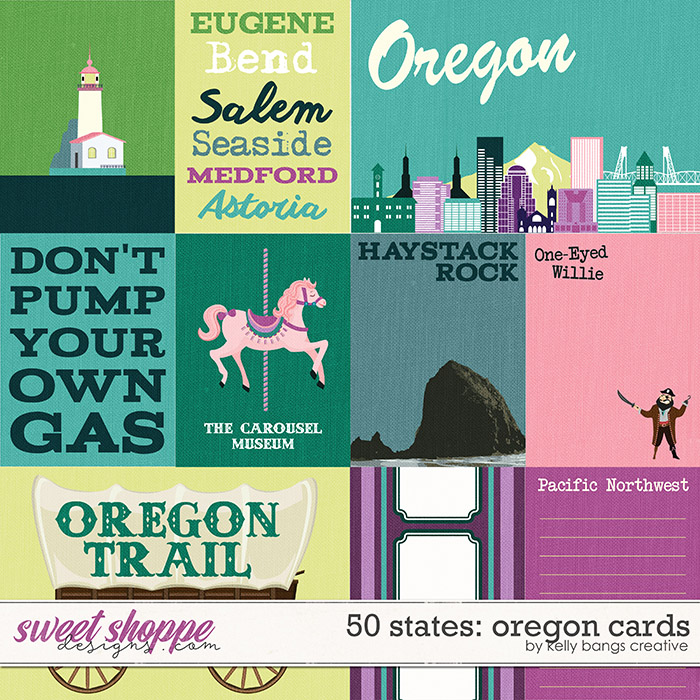 50 states: Oregon Cards by Kelly Bangs Creative