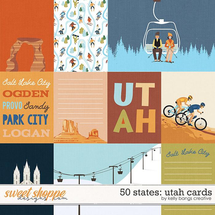 50 states: Utah Cards by Kelly Bangs Creative