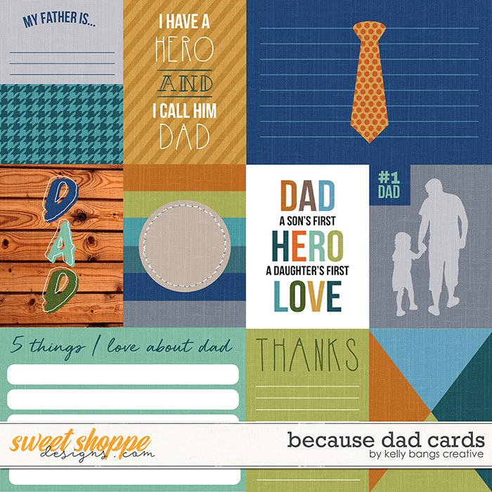 Because Dad Cards by Kelly Bangs Creative