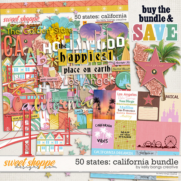 50 States: California Bundle by Kelly Bangs Creative