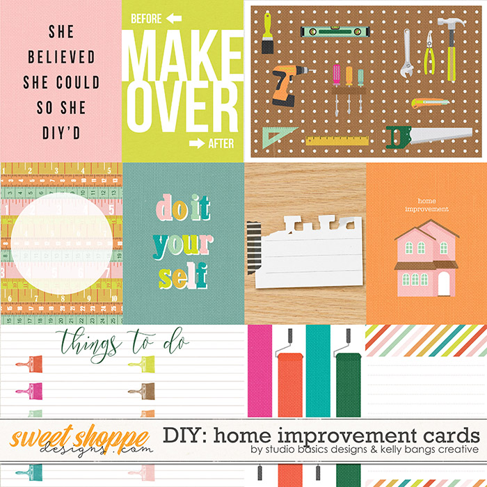 DIY: Home Improvement Cards by Kelly Bangs Creative and Studio Basic