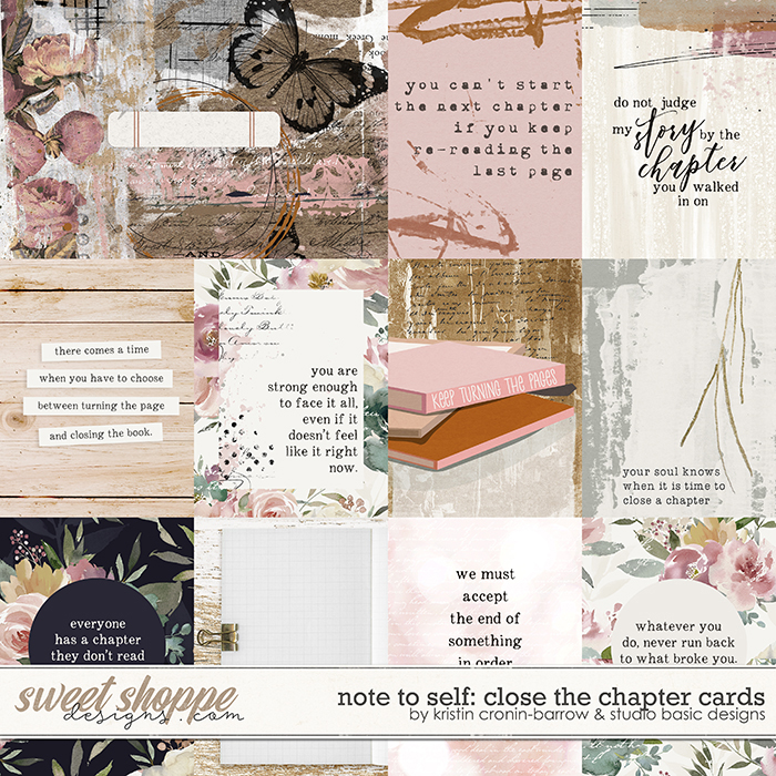 Note To Self: Close The Chapter Cards by Kristin Cronin-Barrow & Studio Basic