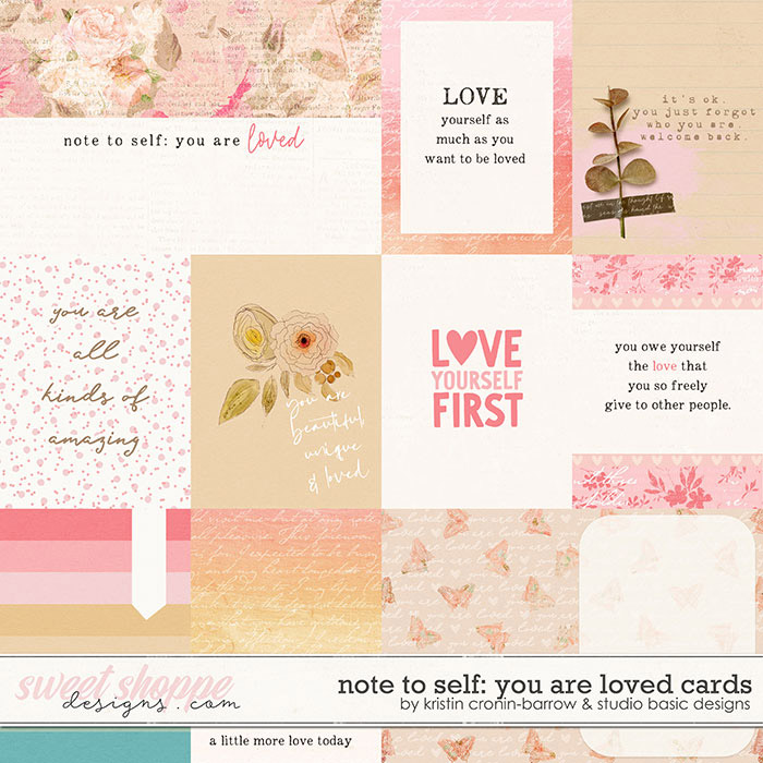 Note To Self: You Are Loved Cards by Kristin Cronin-Barrow & Studio Basic