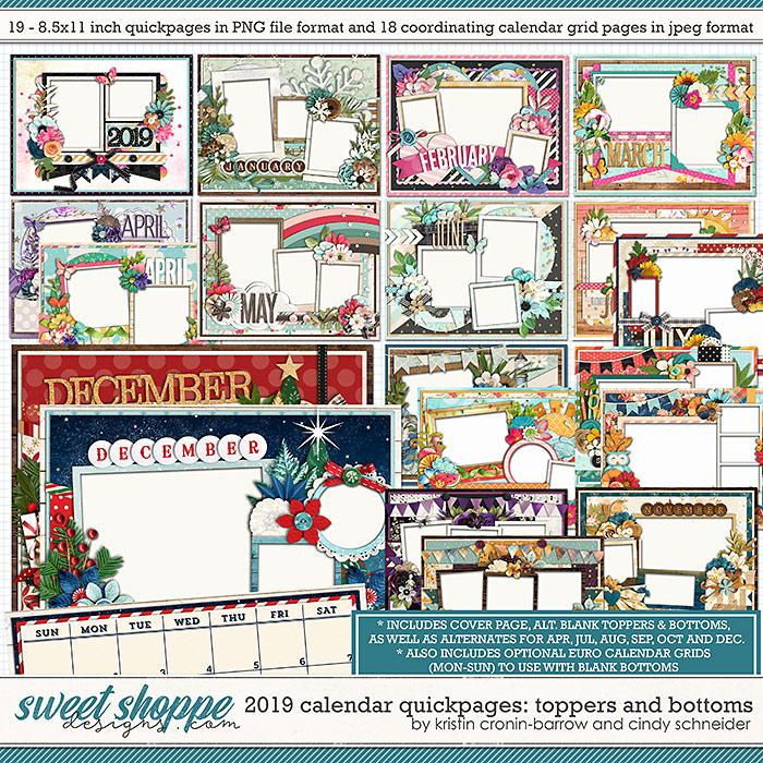 2019 Quickpage Calendars by Cindy Schneider & Kristin Cronin-Barrow