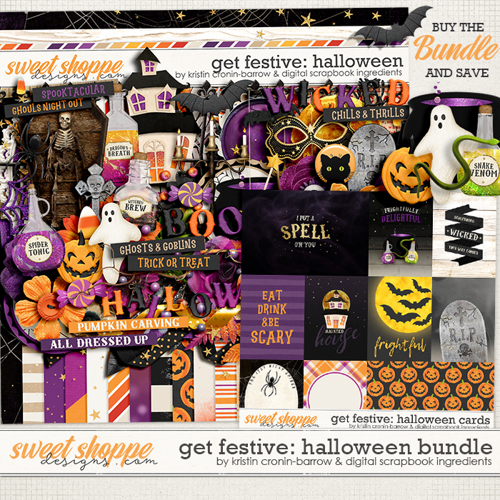 Get Festive: Halloween Bundle by Kristin Cronin-Barrow & Digital Scrapbook Ingredients