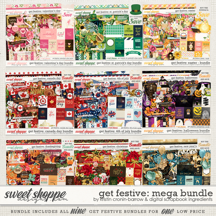 Get Festive: Mega Bundle by Kristin Cronin-Barrow & Digital Scrapbook Ingredients
