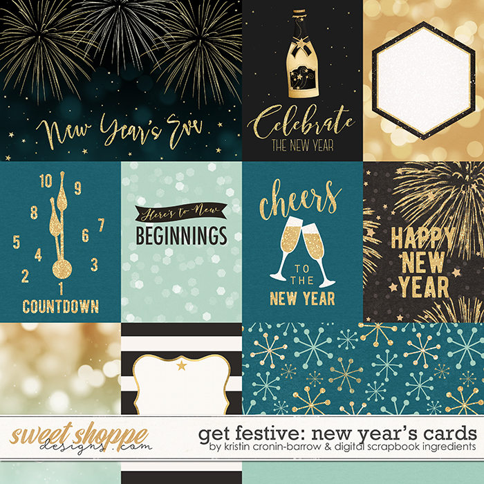 Get Festive: New Year's | Cards by Kristin Cronin-Barrow & Digital Scrapbook Ingredients