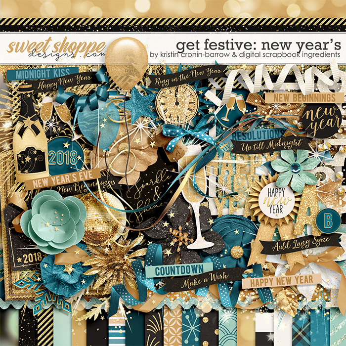 Get Festive: New Year's by Kristin Cronin-Barrow & Digital Scrapbook Ingredients