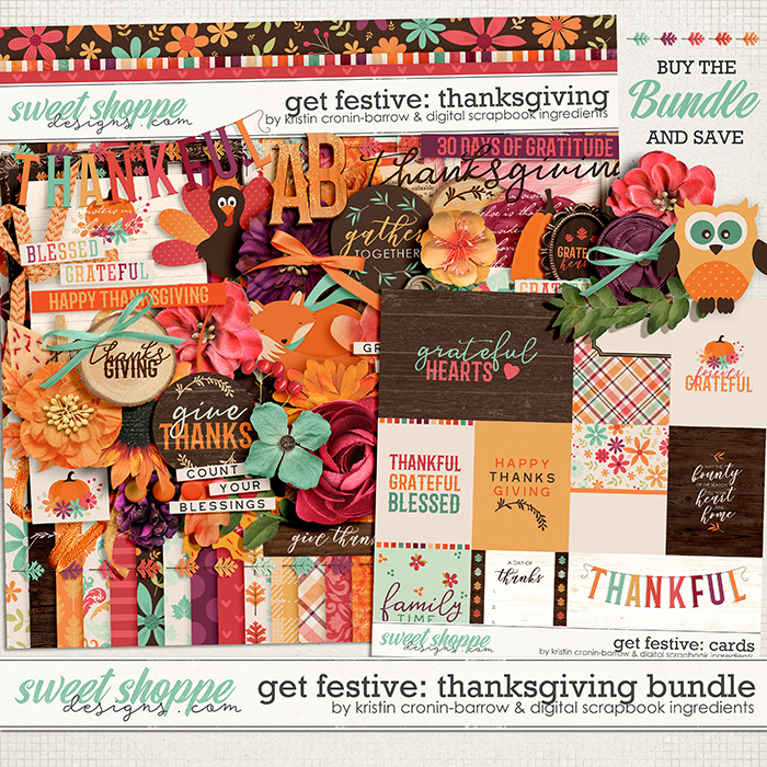 Get Festive: Thanksgiving Bundle by Kristin Cronin-Barrow & Digital Scrapbook Ingredients