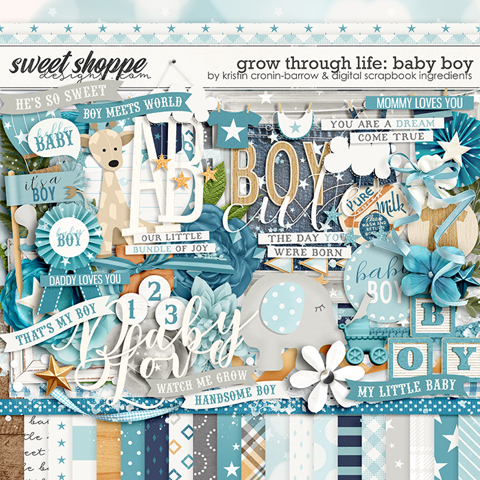 Grow Through Life - Baby Boy by Kristin Cronin-Barrow & Digital Scrapbook Ingredients