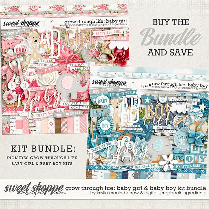 Grow Through Life - Baby Boy & Girl Kit Bundle by Kristin Cronin-Barrow & Digital Scrapbook Ingredients