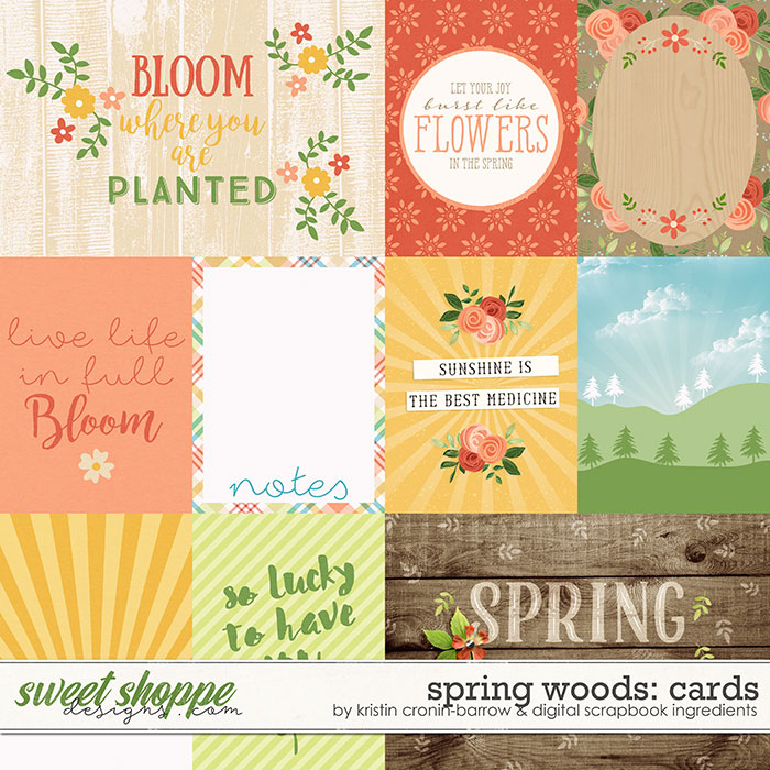 Spring Woods | Journal Cards by Kristin Cronin-Barrow & Digital Scrapbook Ingredients