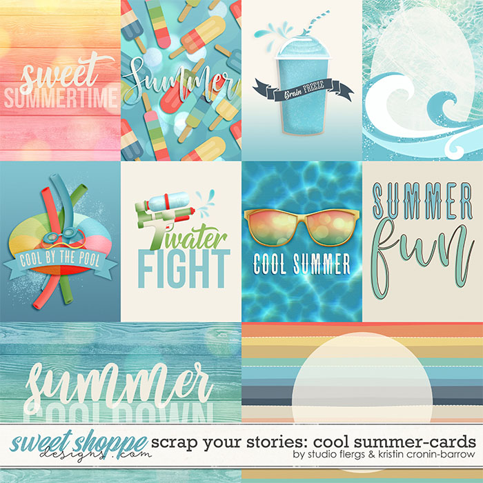 Scrap Your Stories: COOL SUMMER- Cards by Studio Flergs & Kristin Cronin-Barrow