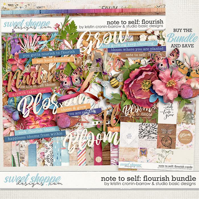 Note To Self: Flourish Bundle by Kristin Cronin-Barrow & Studio Basic
