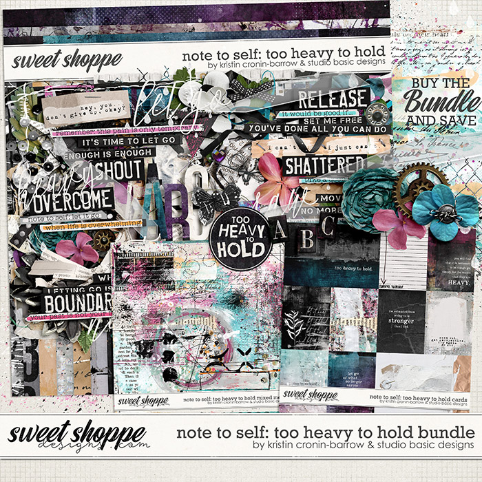 Note To Self: Too Heavy To Hold Bundle by Kristin Cronin-Barrow & Studio Basic