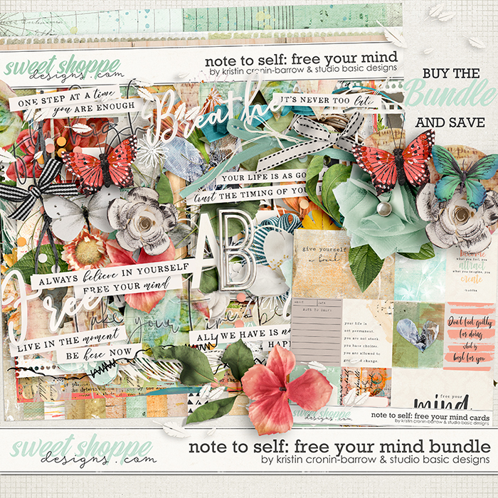 Note To Self: Free Your Mind Bundle by Kristin Cronin-Barrow & Studio Basic