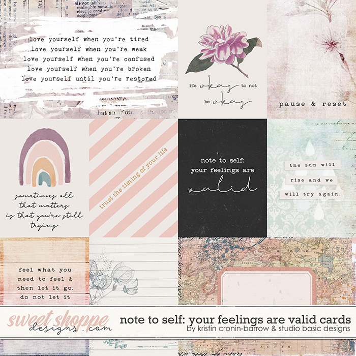 Note To Self: Your Feelings Are Valid Cards by Kristin Cronin-Barrow & Studio Basic