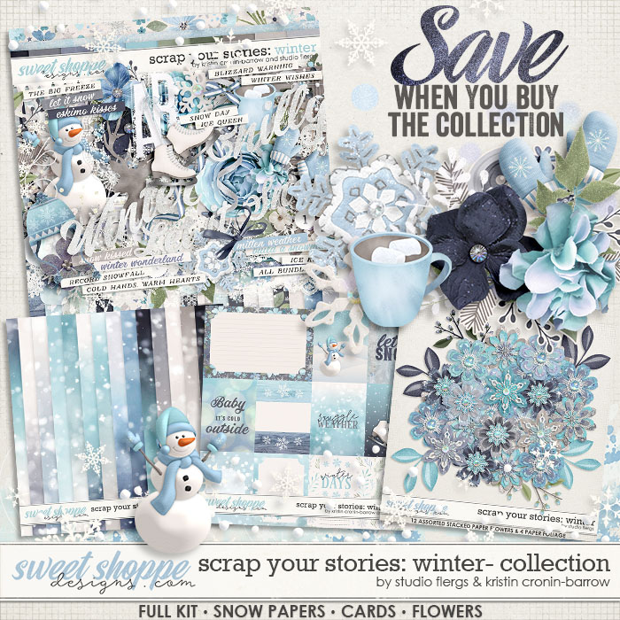 Scrap Your Stories: Winter- BUNDLE by Studio Flergs & Kristin Cronin-Barrow