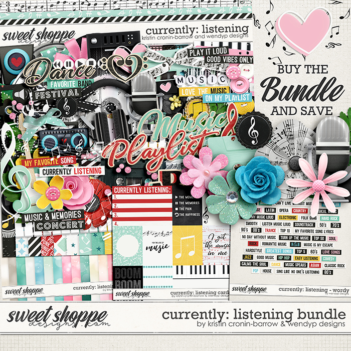 Currently: Listening - bundle by Kristin Cronin-Barrow & WendyP Designs