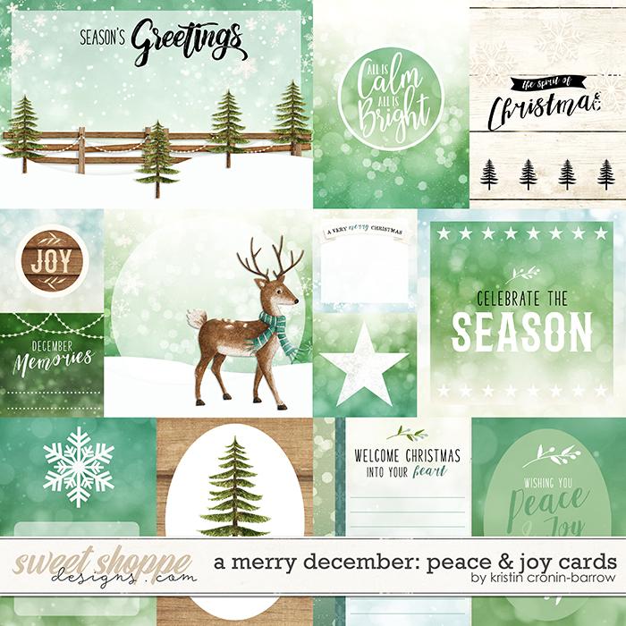 A Merry December: Peace & Joy Cards by Kristin Cronin-Barrow