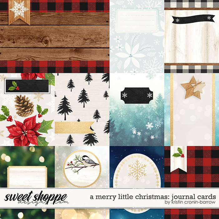 A Merry Little Christmas: Journal Cards by Kristin Cronin-Barrow