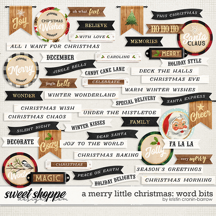 A Merry Little Christmas: Word Bits by Kristin Cronin-Barrow
