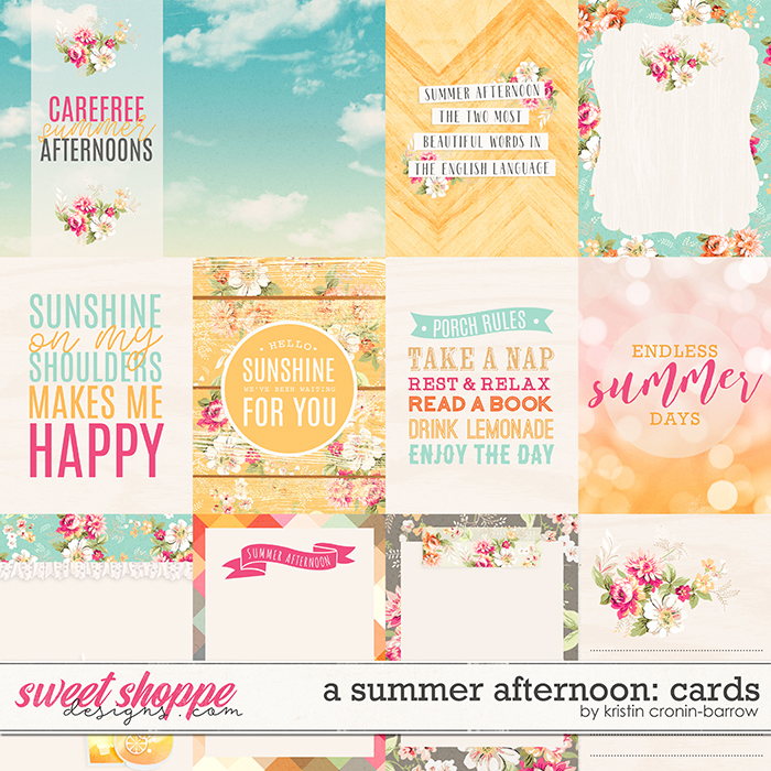 A Summer Afternoon: Cards by Kristin Cronin-Barrow