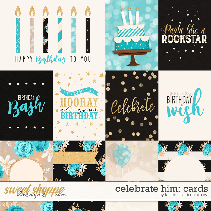 Celebrate: Him Cards by Kristin Cronin-Barrow