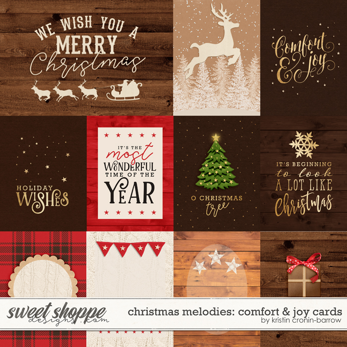 Christmas Melodies: Comfort and Joy Cards by Kristin Cronin-Barrow