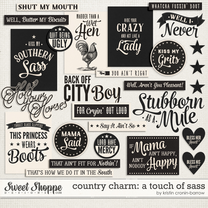 Country Charm: A Touch of Sass by Kristin Cronin-Barrow