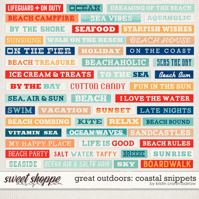 Great Outdoors: Coastal Snippets by Kristin Cronin-Barrow