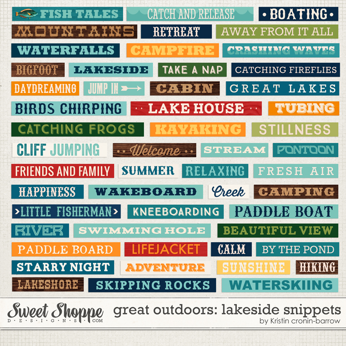 Great Outdoors: Lakeside Snippets by Kristin Cronin-Barrow