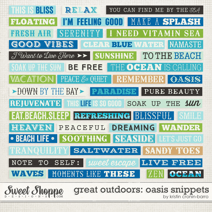 Great Outdoors: Oasis Snippets by Kristin Cronin-Barrow
