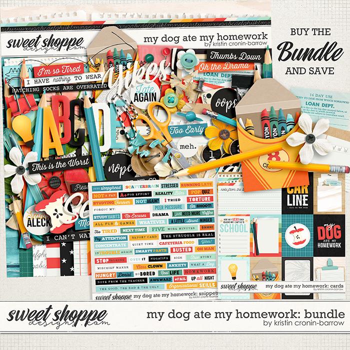 my dog ate my homework: bundle by Kristin Cronin-Barrow